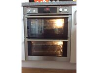 AEG Built-under double oven, Model No. NC4013001, almost new, complete with handbook SALE AGREED