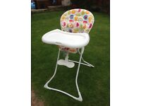 Graco collapsable high chair - £15 - nearly new!