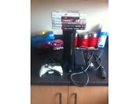 Xbox 360 pad and games