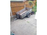 5x3 trailer with ladder rack good condition
