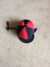 Kids Charles Owen Horse Riding Skull Cap with cover
