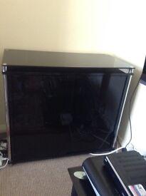 Glass showcase cabinet black color, excellent condition