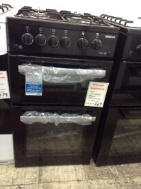 Beko 50cm gas cooker £249. Black new/graded 12 month Gtee