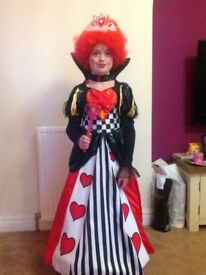 Halloween Costume age 10/11 Queen of Hearts