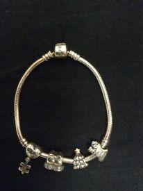 Soufeel Christmas charm bracelet 925 silver