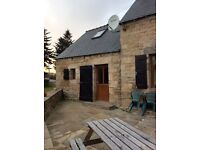1 double bedroom stone cottage in rural hamlet, Brittany France. 7 miles away from nearest town.