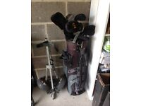 Proline Golf clubs , bag and trolley