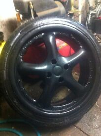 wheels and tyres 4x 100 alloys and 205x40x17
