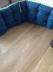 Large thick sunlounger cushion