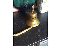 Brass bar bell, last orders