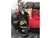 Golf clubs bag and troley