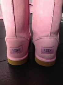 Woman's pink UGG boots