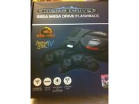 SEGA Megadrive Flashback HD, with 85 built in games, Cartridge slot, and 2x Wireless controllers!