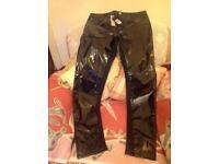 River island PVC trouser size 12