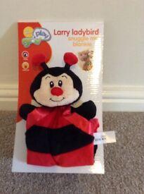 Baby ladybird snuggle blanket / comforter brand new boxed