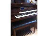 YAMAHA ARTISTE AR80 ORGAN NICE clean with yamaha stool