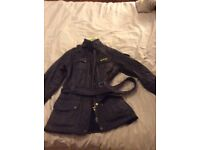 Ladies Barbour International quilted jacket in purple size 8