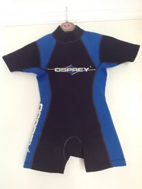Childs shortie wetsuit, Osprey. Age 4-5yrs