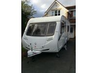 2009 Sterling Eccles Ruby Four berth Caravan. End bathroom, fixed bed, pristine condition.
