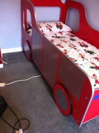 BESPOKE BED WITH LIGHT AND EXTRAS. £170