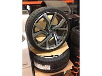 """19"""" VW CLUBSPORT ALLOY WHEELS AND TYRE SUIT VW AUDI SEAT SKODA BRAND NEW 5x112"""