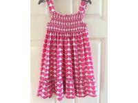Girls summer dress, age 3-4 years, Bluezoo, cotton, hardly worn