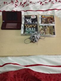 Nintendo DSii with camera and 4 games