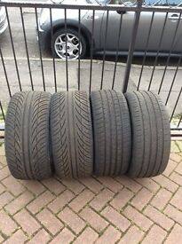 2 pairs tyres for sale good condition 2x 225 40/18 and 2 x 255 35/18
