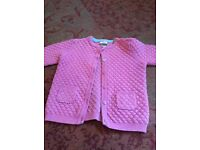 Mamas and papas little girls cardigan..real lovely size 18 to 24 months real nice and pretty pink