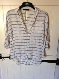 Size S Zara oversized shirt, (see description)