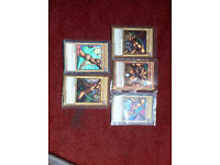 yugioh exodia deck with three extra deck cards