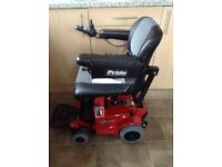 PRIDE GO ELECTRIC WHEELCHAIR BRAND NEW WITH NEW BATTERIES JUST FITTED USER MANUL TOO
