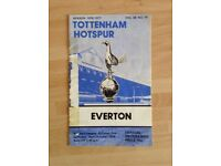 Official Football Programme of the Tottenham v Everton Match Played on 30th October 1976