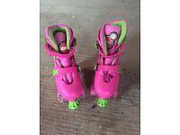 Rollerskates zinc girls adjustable quad skates