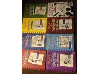 Diary of a wimpy kid,set of 8 £15