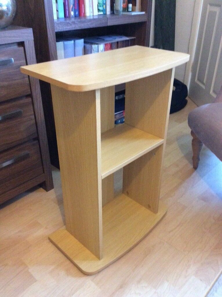 Fish Tank Cabinet Stand Unit Beech Wood With Shelves