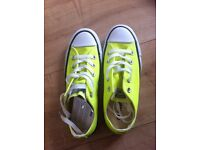 Converse trainers BNWT yellow unisex