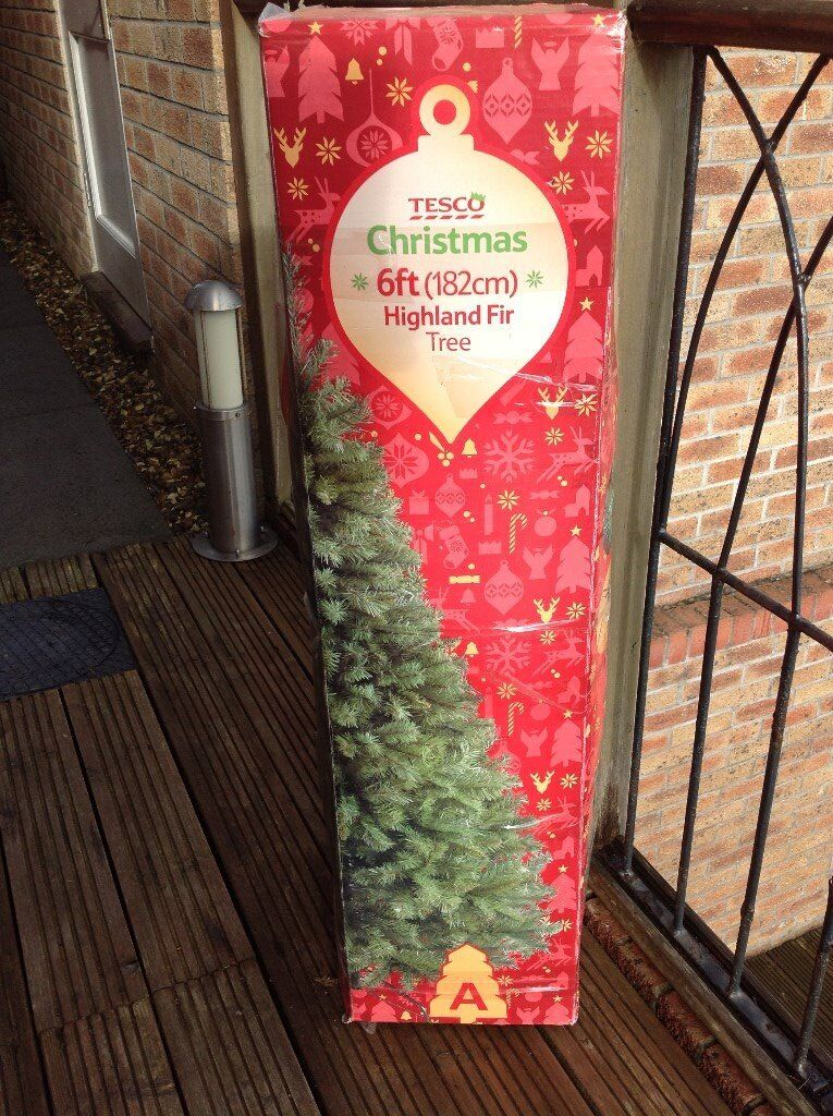 Christmas Tree-TESCO 6ft artifical tree with stand
