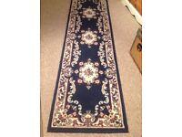 Blue runner rug