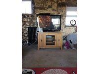 Oak television cabinet