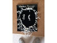 Freshwater Pearl & Crystal Wedding Jewellery Set