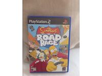 Play station 2 - road rage Simpsons +the sims2 (4 games)