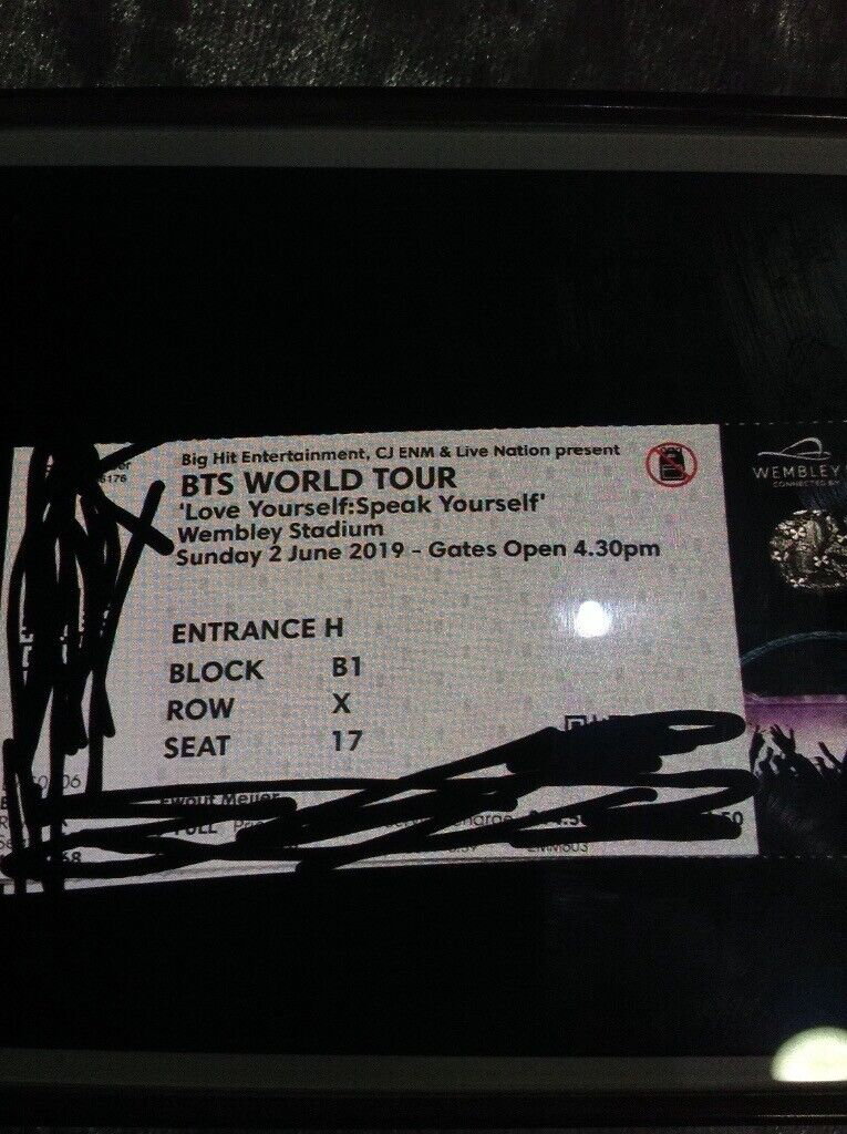 BTS London Concert Tickets Floor Seats near the stage 2nd June 2019 Block  B1 Row X £250 00 | in Leicester, Leicestershire | Gumtree