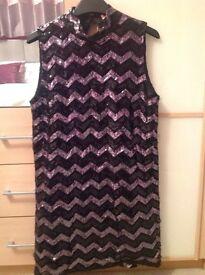 BLack sequinned dress - size M