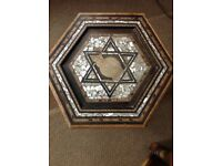 Small hexagonal ornate table