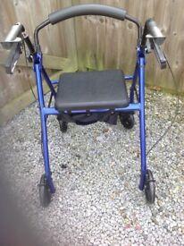 Lightweight aluminium 4 wheeled walker