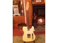 Squier fender telecaster guitar and amp