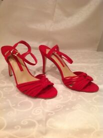 New M&S collection shoes - red sandels
