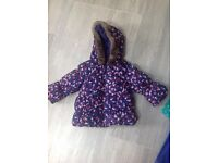 Girls Marks and Spencer Winter Coat 6-9 Months