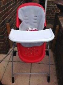 Safety 1st fold up high chair.